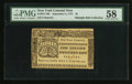Colonial Notes:New York, New York September 2, 1775 $5 PMG Choice About Unc 58.. ...