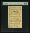 Colonial Notes:North Carolina, North Carolina December, 1771 2s/6d, £1, and 10s Sheet of Three PMGGem Uncirculated 66 EPQ.. ...