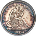 Proof Seated Dimes, 1840 10C No Drapery PR65 Cameo NGC....