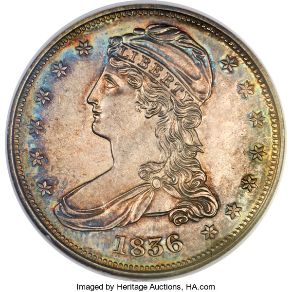1836 50C Reeded Edge PR63 NGC. GR-1, Low R.7 as a proof.... Proof | Lot # 4133 | Heritage Auctions