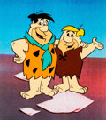 Animation Art:Color Model, The Flintstones Fred and Barney Color Model Cel AnimationArt (Hanna-Barbera, c. 1970s)....