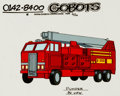 Animation Art:Color Model, Challenge of the GoBots Pumper Color Model Cel Animation Art(Hanna-Barbera, 1984)....