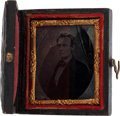 Photography:Ambrotypes, Abraham Lincoln: Cased 1860 Ambrotype. ...
