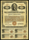 Miscellaneous:Other, Fourth Liberty Loan 4 1/4% Gold Bond of 1933-1938 $50 Oct. 24,1918. ...