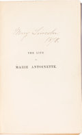 Autographs:U.S. Presidents, Mary Todd Lincoln: Personally Owned Book Signed by Her....