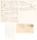 Autographs:Celebrities, John T. Ford: Two Autographed Letters Signed. ...
