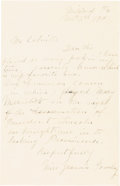 Autographs:Celebrities, Ford's Theatre: Actress Jeannie Gourlay Autographed Letter Signed....