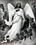 Books:Prints & Leaves, [African-American]. Original Lithograph Poster Entitled, Heavenward. P. P. & F. R. Co, 1911....