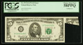 Error Notes:Foldovers, Fr. 1973-B $5 1974 Federal Reserve Note. PCGS Choice About New58PPQ.. ...