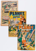 Golden Age (1938-1955):Science Fiction, Planet Comics #53, 55, and 57 Group (Fiction House, 1948)....(Total: 3 Comic Books)