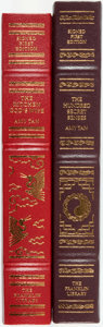 Books:Fine Bindings & Library Sets, Amy Tan. SIGNED. Pair of Signed First Editions. Franklin Center: Franklin Library, [various dates]. Publisher's full leather... (Total: 2 Items)