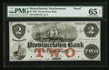 Obsoletes By State:Massachusetts, Provincetown, MA- Provincetown Bank $2 Dec. 1, 1854 G4aP Proof. ...