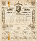 Books:Americana & American History, [Confederate Currency] Confederate Bond Certificate. Dated March 2,1863. Unsigned. Measures 12.25 x 13.25 inches. Folded, w...