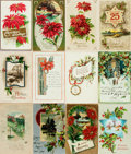 Miscellaneous:Postcards, [Postcards] Group of Twenty-Five Christmas Postcards. Ca. 1910s.Some used. Very good. From the collection of Judith Adelm...