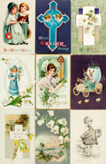 Miscellaneous:Postcards, [Postcards] Group of Sixteen Easter Postcards. Ca. 1910s. Someused. Very good. From the collection of Judith Adelman. ...