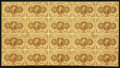 Fractional Currency:First Issue, Fr. 1230 5¢ First Issue Full Sheet of Twenty Very Fine.. ...