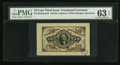 Fractional Currency:Third Issue, Fr. 1254SP Milton 3P10F.3 10¢ Third Issue Wide Margin Face PMGChoice Uncirculated 63 EPQ.. ...