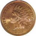 Proof Indian Cents: , 1885 1C PR67 Brown PCGS. Both sides of this extraordinary Gem have lost virtually all signs of mint red, but have been repl...