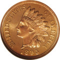 Proof Indian Cents: , 1895 1C PR66 Red Cameo NGC. Richly colored in cherry-red shades, the crisply impressed surfaces are sharply, if not fully d...
