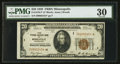Small Size:Federal Reserve Bank Notes, Fr. 1870-I* $20 1929 Federal Reserve Bank Star Note. PMG Very Fine 30.. ...