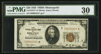 Fr. 1870-I* $20 1929 Federal Reserve Bank Star Note. PMG Very Fine 30