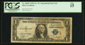 Small Size:Silver Certificates, Fr. 1609* $1 1935A R Silver Certificate. PCGS Fine 15.. ...