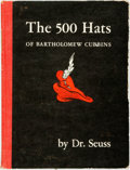 Books:Children's Books, Dr. Seuss. The 500 Hats of Bartholomew Cubbins. New York:Vanguard Press, [1938]. Likely a first edition. Publisher'...