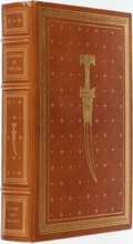 Books:Fine Bindings & Library Sets, Leon Uris. SIGNED. The Haj. Franklin Center: Franklin Library, 1984. First edition. Signed by the author. Publis...
