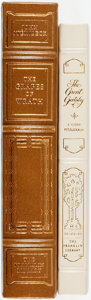 Books:Fine Bindings & Library Sets, [John Steinbeck, F. Scott Fitzgerald]. Pair of Franklin Library Books. Various dates. Publisher's full leather with guilt ti... (Total: 2 Items)