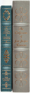Books:Fine Bindings & Library Sets, Jean Jacques-Rousseau. Pair of Franklin Library/Easton Press Books. Various dates. Publisher's full leather with guilt title... (Total: 2 Items)
