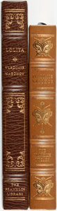 Books:Fine Bindings & Library Sets, Vladmir Nabokov. Pair of Franklin Library books. Various dates. Publisher's full leather with gilt titles and decoration. Sc... (Total: 2 Items)