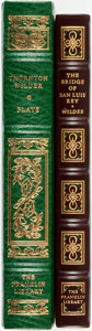 Books:Fine Bindings & Library Sets, Thornton Wilder. Pair of Franklin Library books. Various dates. Publisher's full leather with gilt titles and decoration. Fi... (Total: 2 Items)