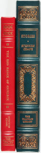 Books:Fine Bindings & Library Sets, Stephen Crane. Pair of Franklin Library books. Various dates. Publisher's full leather with gilt titles and edges. Both with... (Total: 2 Items)