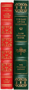 Books:Fine Bindings & Library Sets, James Fenimore Cooper. Pair of Franklin Library Books. Various dates. Publisher's full leather and gilt titles and decoratio... (Total: 2 Items)