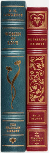 Books:Fine Bindings & Library Sets, [Emily Bronte, D.H. Lawrence]. Pair of Franklin Library Books. Various dates. Publisher's full leather with gilt titles and ... (Total: 2 Items)