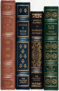 Books:Fine Bindings & Library Sets, Gustave Flaubert, Daniel Defoe, Émile Zola, Marcel Proust. Group of Four Franklin Library Books. Various dates. Publisher's ... (Total: 4 Items)