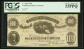 Confederate Notes:1861 Issues, T7 $100 1861 PF-4 Cr. 11.. ...