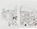 Original Comic Art:Covers, Stan Goldberg and Bob Smith Laugh Digest #139 and ArchiesDouble Digest #189 Cover Original Art Group ... (Total: 2Original Art)