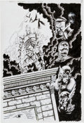 Original Comic Art:Splash Pages, Kyle Hotz Shadowhawks of Legend #1 Splash Page 3 OriginalArt (Image, 1995)....