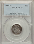 Bust Dimes: , 1830/29 10C VF35 PCGS. PCGS Population (5/26). NGC Census: (2/29). Mintage: 510,000. Numismedia Wsl. Price for problem free...