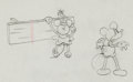 Animation Art:Production Drawing, Camping Out Mickey Mouse and Minnie Mouse Production DrawingAnimation Art (Walt Disney, 1934)....