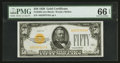 Small Size:Gold Certificates, Fr. 2404 $50 1928 Gold Certificate. PMG Gem Uncirculated 66 EPQ.. ...