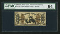 Fractional Currency:Third Issue, Fr. 1350 50¢ Third Issue Justice PMG Choice Uncirculated 64.. ...
