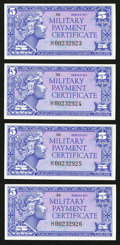 Military Payment Certificates:Series 611, Series 611 5¢ Replacements Four Consecutive Examples Choice New.. ... (Total: 4 notes)