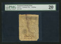 Colonial Notes:Vermont, Vermont February 1781 1s PMG Very Fine 20.. ...