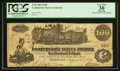 "Confederate Notes:1862 Issues, Manuscript Endorsement ""Benjamin Bloomfield"" T39 $100 1862 PF-13Cr. 294.. ..."