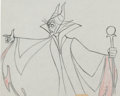 Animation Art:Production Drawing, Sleeping Beauty Maleficent with Staff Production DrawingAnimation Art (Walt Disney, 1959)....