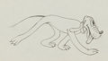 Animation Art:Production Drawing, Puppy Love Pluto Production Drawing Animation Art (WaltDisney, 1933)....
