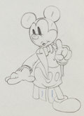 Animation Art:Production Drawing, Mickey's Amateurs Mickey Mouse Production Drawing AnimationArt (Walt Disney, 1937)....