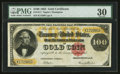 Large Size:Gold Certificates, Fr. 1211 $100 1882 Gold Certificate PMG Very Fine 30.. ...